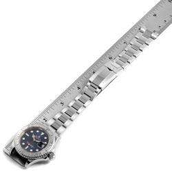 Rolex Blue Platinum And Stainless Steel Yachtmaster 116622 Men's Wristwatch 40 MM