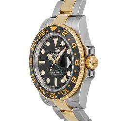 Rolex Black 18K Yellow Gold And Stainless Steel GMT-Master II 116713LN Men's Wristwatch 40 MM