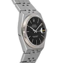 Rolex Black Stainless Steel Oysterquartz Datejust 17014 Men's Wristwatch 36 MM
