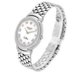 Rolex MOP 18K White Gold Cellini 6623 Men's Wristwatch 37.5 MM