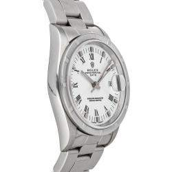 Rolex Silver Stainless Steel Oyster Perpetual 15210 Men's Wristwatch 34 MM