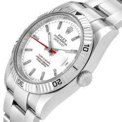 Rolex White 18K White Gold And Stainless Steel Turnograph 116264 Men's Wristwatch 36 MM