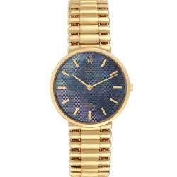 Rolex Blue MOP 18K Yellow Gold Cellini Classic 5162 Men's Wristwatch 32 MM
