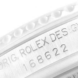 Rolex Silver Platinum Yachtmaster 168622 Men's Wristwatch 35 MM