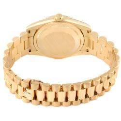 Rolex Champagne Diamonds 18K Yellow Gold President Day Date 118238 Men's Wristwatch 36 MM
