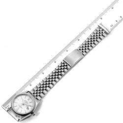 Rolex Silver 18K White Gold And Stainless Steel Datejust Automatic 16220 Men's Wristwatch 36 MM