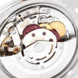 """ساعة يد رجالية رولكس """"دايتجست 116201"""" ستانلس ستيل و ذهب وردي عيار 18 و ألماس بيضاء 36 مم"""