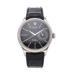 ساعة يد رجالية رولكس سيليني 50519  ذهب أبيض عيار 18 سوداء 39 مم