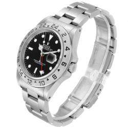 Rolex Black Stainless Steel Explorer II Automatic 16570 Men's Wristwatch 40 MM