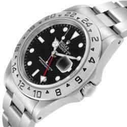 Rolex Black Stainless Steel Explorer II Automatic 16570 Men's Wristwatch 40 MM