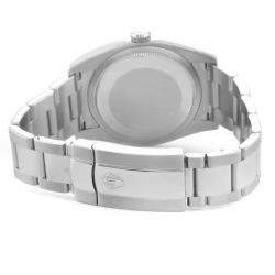 Rolex Silver Diamonds 18K White Gold And Stainless Steel Datejust 116234 Men's Wristwatch 36 MM