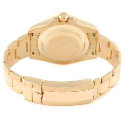 Rolex Black 18K Yellow Gold Submariner 116618 Men's Wristwatch 40 MM