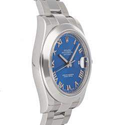 Rolex Blue Stainless Steel Datejust II 116300 Men's Wristwatch 41 MM