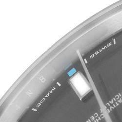 Rolex Dark Silver Stainless Steel Oyster Perpetual 114300 Men's Wristwatch 39MM