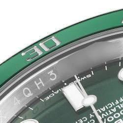 Rolex Green Stainless Steel Submariner Hulk 116610LV Men's Wristwatch 40 MM