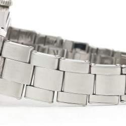 Rolex Orange Stainless Steel Oyster Precision Mechanical 6426 Men's Wristwatch 35 MM