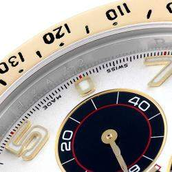 Rolex Silver 18k Yellow Gold And Stainless Steel Cosmograph Daytona 116523 Men's Wristwatch 40 MM