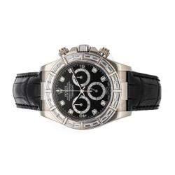 ساعة يد رجالية رولكس كوسموغراف دايتونا 116589RBR ذهب أبيض عيار 18 ألماس سوداء 40 مم