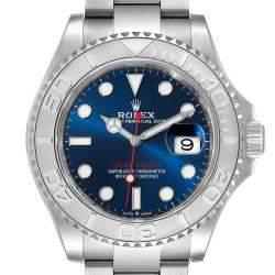 Rolex Blue Platinum Stainless Steel Yachtmaster 126622 Men's Wristwatch 40 MM