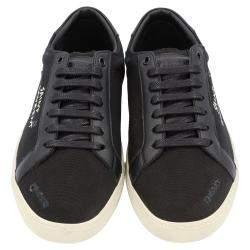 Saint Laurent Black Canvas/Leather Court Classic Sneakers Size EU 39