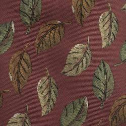 Saint Laurent Paris Metallic Pink Leaf Woven Silk Tie