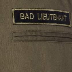 Saint Laurent Paris Khaki Green Cotton Blend Lieutenant Jacket L