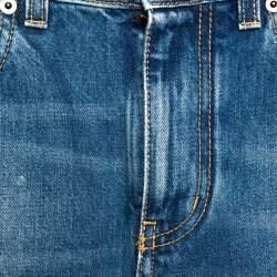 بنطلون جينز سكيني سان لوران باريس دينم نمط باهت مقاس صغير (سمول)