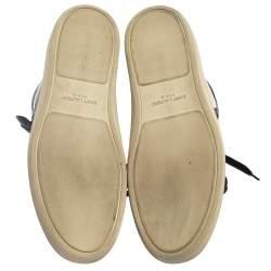 حذاء رياضي سان لوران كورت كلاسيك مرتفع من أعلى جلد ابيض مقاس 41