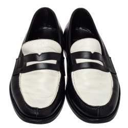 Saint Laurent Monochrome Leather Penny Slip On Loafers Size 42.5