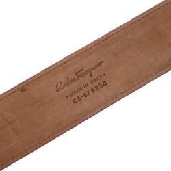Salvatore Ferragamo Pink Lizard Adjustable Buckle Belt 105cm