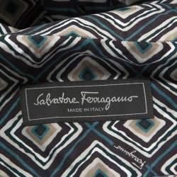 قميص سالفاتوري فيراغامو مكسم دربي قطن طباعة تجريدية متعدد الألوان XL