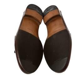 Salvatore Ferragamo Brown Leather Tassel Fringe Loafers Size 43.5