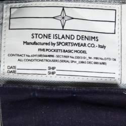Stone Island Pale Grey Denim New Steel Narrow Leg Jeans M