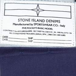 Stone Island Pale Grey Denim New Steel Narrow Leg Jeans S
