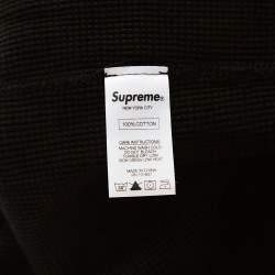 Supreme Black Waffle Knit Playboy Print Crew Neck Thermal L