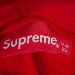 Supreme Red Cotton Swarovski Box Logo Hoodie XL