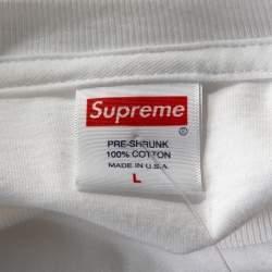 Supreme White Cotton Scarface Split Crew Neck T Shirt L
