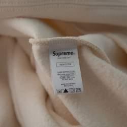 Supreme Cream Cotton Chain Logo Embroidered Sweatshirt XL