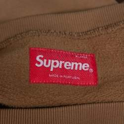 Supreme Brown Dipped Cotton Crew Neck Sweatshirt XL