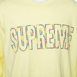 Supreme Yellow Cotton Supreme City Embroidered Long Sleeve T-Shirt XL
