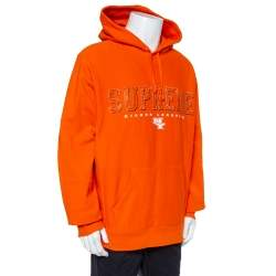 Supreme Orange Cotton Supreme Gems Hooded Sweatshirt XL
