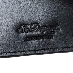 S.T. Dupont Black Leather Business Card Holder