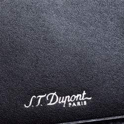 S.T. Dupont Black Leather Cheque Holder