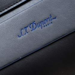 S.T. Dupont Black  Leather Sleeve Slim Pochette