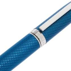 S.T. Dupont Fidelio Blue Textured Guilloche Palladium Finish Ballpoint Pen