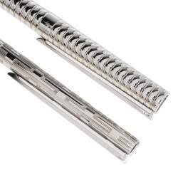 S.T. Dupont Vintage Textured Silver Tone Ballpoint & Fountain Pen Set