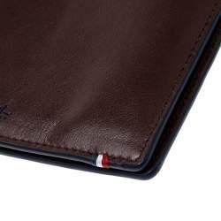 S.T. Dupont Brown Leather Line D Slim 7CC Bifold Wallet