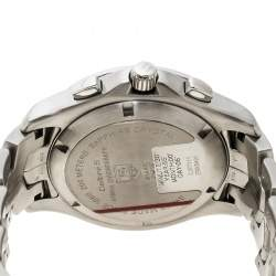 Tag Heuer Silver White Stainless steel Link Calibre S CJF7111 Men's Wristwatch 42 mm