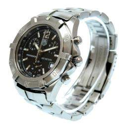 Tag Heuer Black Stainless Steel Exclusive Professional 200 Chronograph CN1110 Men's Wristwatch 38MM