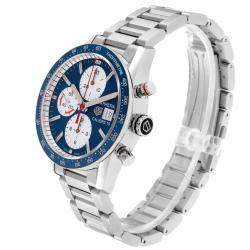 Tag Heuer Blue Stainless Steel Carrera Calibre 16 Chronograph CV201AR Men's Wristwatch 41 MM